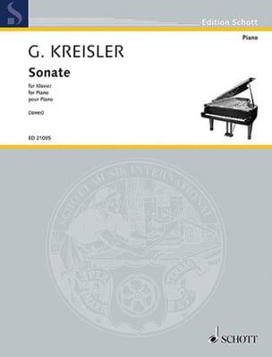 Fritz Kreisler - Sonate - Partition - di-arezzo.fr
