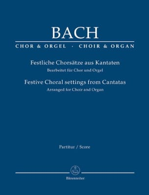 BACH - Festive choral settings from Cantatas - Sheet Music - di-arezzo.co.uk