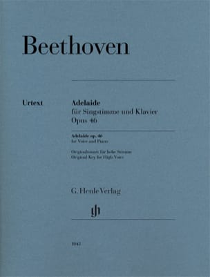 BEETHOVEN - Adelaide op. 46 - Partition - di-arezzo.fr
