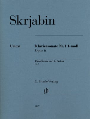 Alexander Scriabine - Sonate pour piano en fa mineur n° 1 op. 6 - Partition - di-arezzo.fr