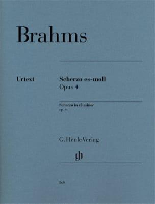 Johannes Brahms - Scherzo op. 4 en mi bémol mineur - Partition - di-arezzo.fr