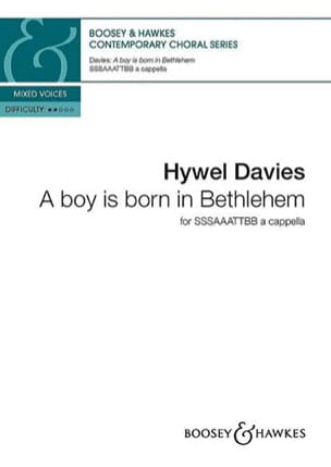 Hywel Davies - A boy is born in Bethlehem - Partition - di-arezzo.fr