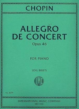 Allegro de concert op. 46 - CHOPIN - Partition - laflutedepan.com