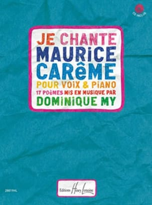 Dominique My - I sing Maurice Carême - Sheet Music - di-arezzo.co.uk