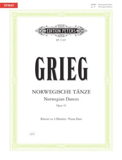 Edward Grieg - Norwegian dances Opus 35. 4 hands - Partition - di-arezzo.com