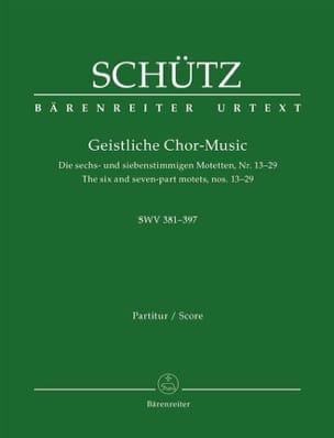 Geistliche Chor music. Swv 381-397 - laflutedepan.com
