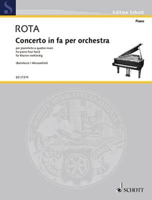 Concerto en fa pour orchestre. 4 mains ROTA Partition laflutedepan