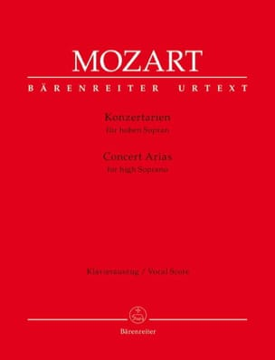 MOZART - Concert tunes. Light soprano - Sheet Music - di-arezzo.co.uk