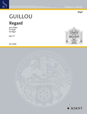 Jean Guillou - Regard op. 77 - Partition - di-arezzo.fr