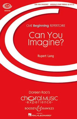 Can you imagine? - Rupert Lang - Partition - Chœur - laflutedepan.com