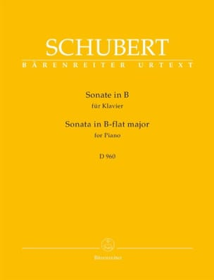 SCHUBERT - Piano Sonata B flat Major D 960 - Sheet Music - di-arezzo.com