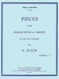 Pièces pour orgue Volume 3 Albert Alain Partition Orgue - laflutedepan
