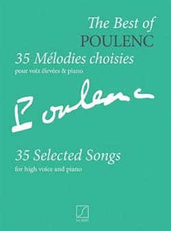 35 mélodies choisies POULENC Partition Mélodies - laflutedepan