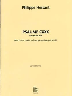 Philippe Hersant - Psalm CXXX. Equipment - Sheet Music - di-arezzo.com