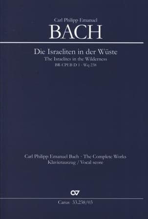 Carl-Philipp Emanuel Bach - Die Israeliten in der Wüste. Wq 238 - Partition - di-arezzo.fr
