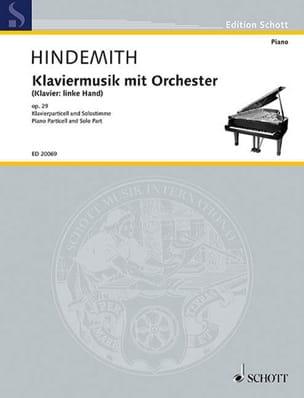 Paul Hindemith - Klaviermusik avec orchestre op. 29 - Partition - di-arezzo.fr