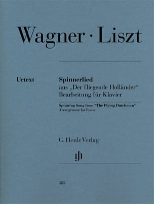 Wagner Richard / Liszt Franz - Spinnerlied. - Partition - di-arezzo.fr