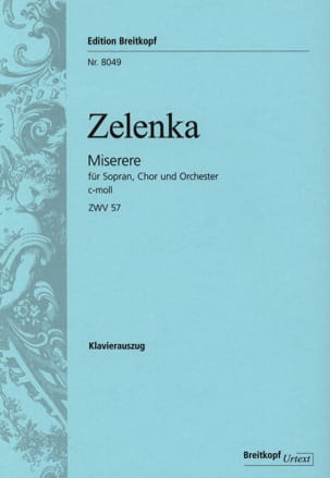 Jan Dismas Zelenka - Miserere en do mineur Zwv 57 - Partition - di-arezzo.fr