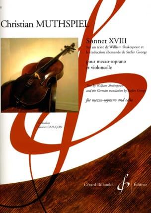 Sonnet XVIII - Christian Muthspiel - Partition - laflutedepan.com