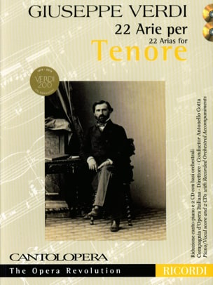 VERDI - 22 Arie for Tenor - Sheet Music - di-arezzo.co.uk