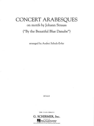 Concert arabesques - Strauss J. / Schulz Evler - laflutedepan.com