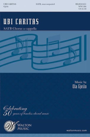 Ola Gjeilo - Ubi Caritas - Sheet Music - di-arezzo.co.uk