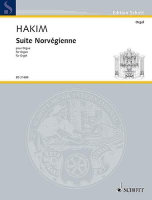 Naji Hakim - Suite norvégienne - Partition - di-arezzo.fr