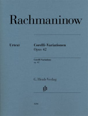 Sergei Rachmaninov - Variations Corelli Opus 42 - Sheet Music - di-arezzo.co.uk