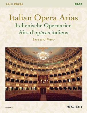 - Airs d'opéras italiens. Basse - Partition - di-arezzo.fr