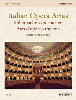 - Airs d'Opéras italiens. Baryton - Partition - di-arezzo.fr