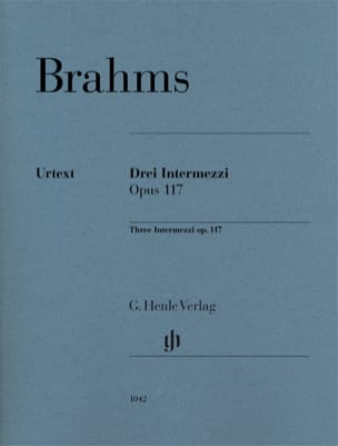 BRAHMS - 3 Intermezzi Opus 117 - Sheet Music - di-arezzo.co.uk