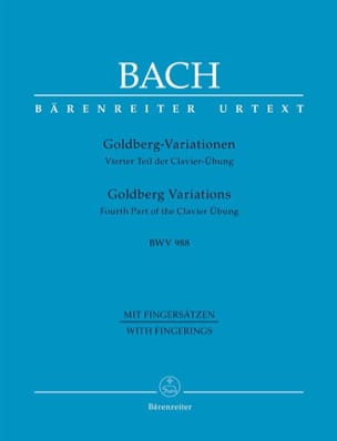 BACH - Variations Goldberg BWV 988 - Partition - di-arezzo.fr