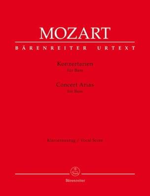 MOZART - Airs de concert. Basse - Partition - di-arezzo.fr