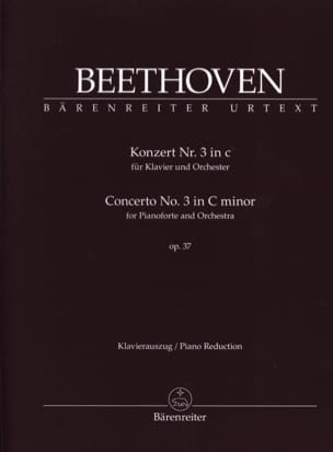 BEETHOVEN - Piano Concerto No. 3 op. 37 In C minor - Sheet Music - di-arezzo.co.uk