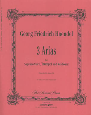 3 Arias for trumpet, soprano voice and piano HAENDEL laflutedepan