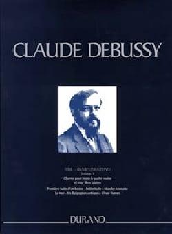 Claude Debussy - Oeuvres pour piano 4 mains et 2 pianos. Série 1 volume 9. Relié - Partition - di-arezzo.fr