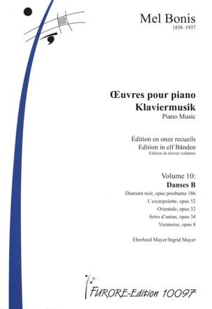 Mel Bonis - Oeuvres pour piano Volume 10 (Danses B) - Partition - di-arezzo.fr