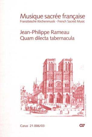 Jean-Philippe Rameau - Quam dilecta tabernacula - Partition - di-arezzo.fr