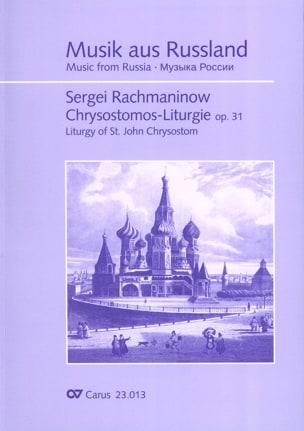 RACHMANINOV - Liturgie de Saint Jean Chrysostome op. 31 - Partition - di-arezzo.fr