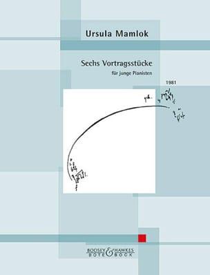 Ursula Mamlock - 6 Vortragsstücke - Partition - di-arezzo.fr