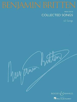 Benjamin Britten - Collected songs. Voix haute - Partition - di-arezzo.fr