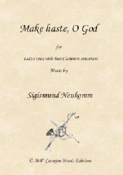 Make haste, O God Chevalier Sigismond Neukomm, Partition laflutedepan