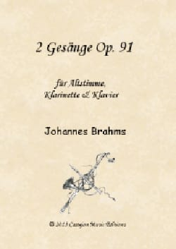 2 Gesänge op. 91 - Johannes Brahms - Partition - laflutedepan.com