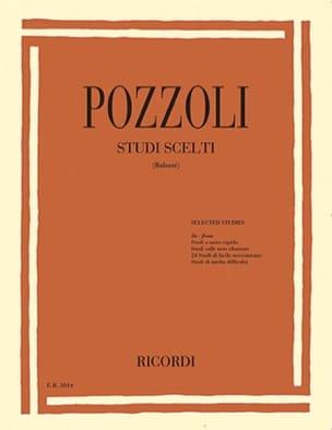 Sélection d'études Ettore Pozzoli Partition Piano - laflutedepan