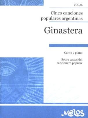 Alberto Ginastera - 5 canciones populares argentinas - Partition - di-arezzo.fr