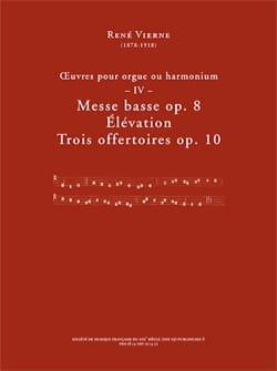 Oeuvres pour orgue. Volume 4 René Vierne Partition laflutedepan