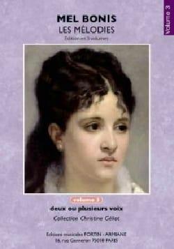Mel Bonis - Mélodies. Volume 3 - Partition - di-arezzo.fr