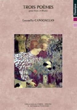 Trois poèmes op. 304 - Leonello Capodaglio - laflutedepan.com