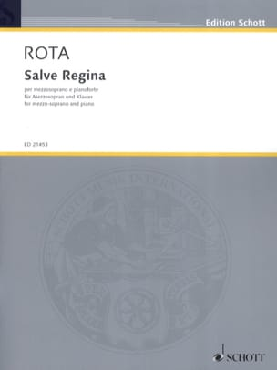 Salve Regina - Nino Rota - Partition - Mélodies - laflutedepan.com