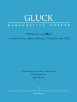 GLUCK - Orpheus and Eurydice Urtext - Sheet Music - di-arezzo.co.uk